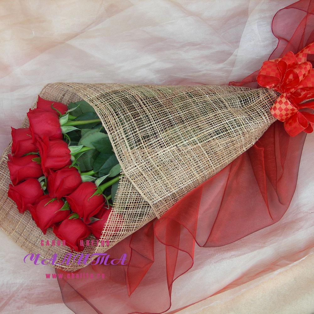 Как сделать упаковку для букета роз