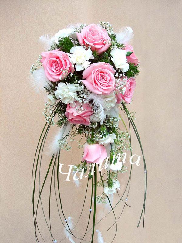 Букет невесты фламинго увеличить