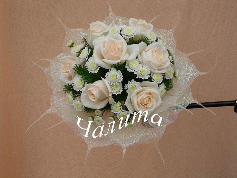 Свадебный букет из 7 роз