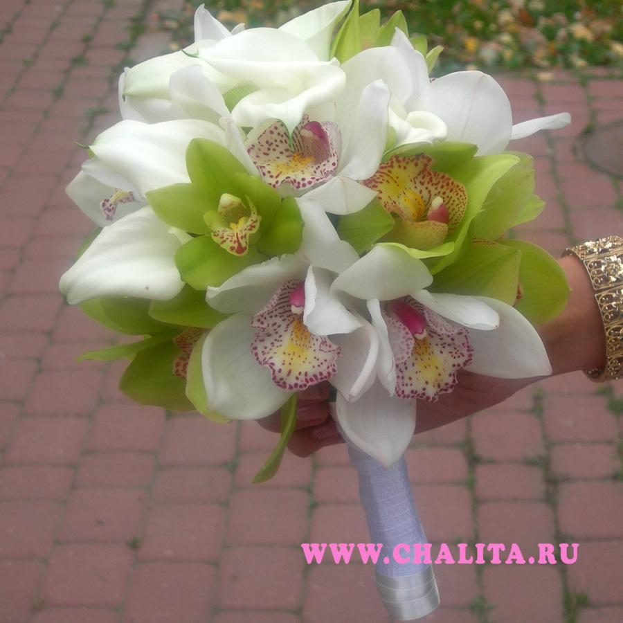 Заказать букет невесты каллы орхидеи курьерская доставка цветов в нальчик