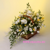 Basket of orchids, tulips and many other flowers. Price: 288 USD