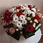Basket with lots of bright flowers Price: 81 USD