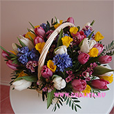 Basket with lots of spring bright colors Price: 102 USD