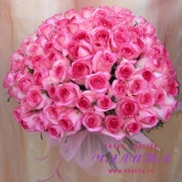 Bouquet of 101 pink roses Price: 266 USD
