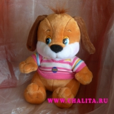 A soft toy with a sound device. Price: 8 USD