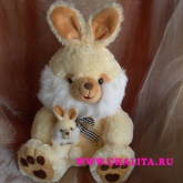 Hare with a little hare is an addition to a bouquet. Price: 12 USD